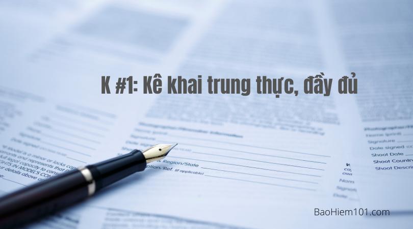 quy tắc 5k trong bảo hiểm k1 1