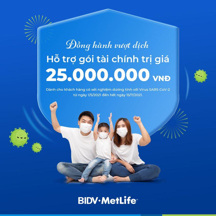 BIDV Metlife hỗ trợ covid